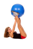 Sexy Medicine Ball Workout Royalty Free Stock Photo