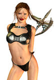 Sexy medieval warrior Stock Photography