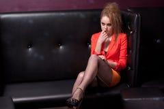 Sexy meisje in de club Stock Afbeelding