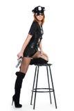Sexy meisje in eenvormige politie Stock Afbeelding