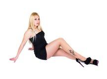 Sexy Meisje met Tatoegering Stock Foto's