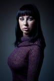 Sexy meisje in sweater royalty-vrije stock fotografie