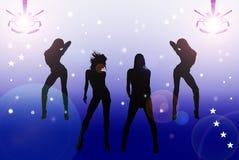Sexy Meisjes in de Disco vector illustratie