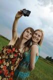 Sexy meisjes met camera Stock Fotografie