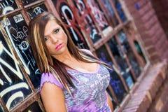 Sexy meisjesmannequin met bruin haar Stock Foto's