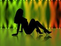 Sexy meisjessilhouet Royalty-vrije Stock Afbeelding