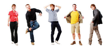 Sexy men. Group of strong young men on a white background Stock Photo