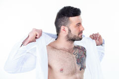 Sexy men with a detach shirt Stock Photo