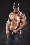 Sexy men like cowboy Stock Images
