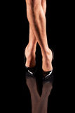 Sexy mens legs in patent-leather shoes Royalty Free Stock Photos