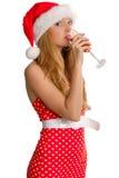 Sexy Mevr. de Kerstman royalty-vrije stock foto