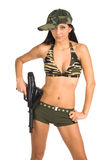 Sexy Militair Stock Foto