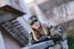 Sexy Military Girl Royalty Free Stock Image