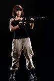 Sexy Military Girl Royalty Free Stock Photos