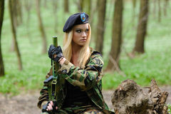 Sexy Military Girl Royalty Free Stock Photo