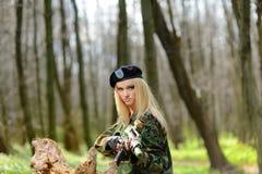 Sexy Military Girl Stock Image