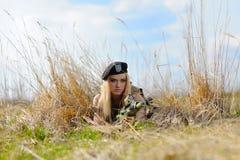 Sexy Military Girl Stock Photos