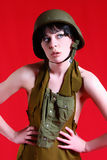 Sexy Military Girl Royalty Free Stock Photos