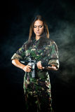Sexy military girl Royalty Free Stock Images