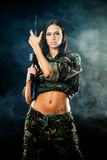 Sexy military girl Stock Photos