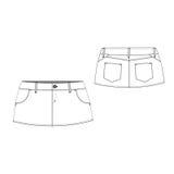 Sexy Mini Skirt Stock Afbeeldingen