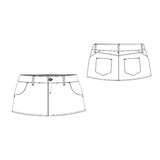 Sexy Mini Skirt. A vector illustration of Sexy Mini Skirt Stock Images