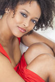 Sexy Mixed Race African American Girl Stock Image