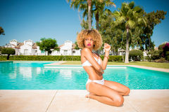 Sexy Model with Afro Haircut Stock Photos
