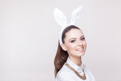 Sexy model in bunny costume Stock Photos