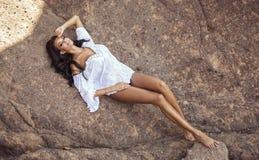 Model posing royalty free stock photos