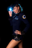Sexy model in police uniform Stock Photos