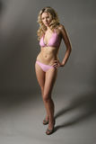 Sexy model in Roze Bikini Royalty-vrije Stock Afbeeldingen
