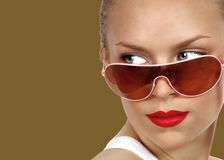 Sexy Model With Sunglasses Royalty Free Stock Images