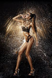 Sexy model in water splash Royalty Free Stock Photography