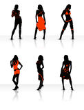 Models. With Shadow & white background royalty free illustration