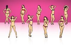 Sexy models illustration Royalty Free Stock Image