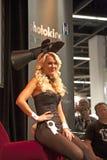Sexy models pose at the Photokina Royalty Free Stock Photo