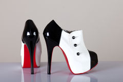 modern female shoes Stock Photography