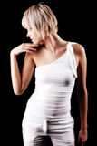 Sexy modern young blond woman Royalty Free Stock Photos