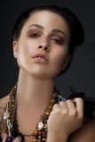 Sexy modieuze vrouw Stock Afbeelding
