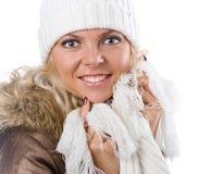 Sexy mooi meisje in witte hoed Stock Afbeeldingen
