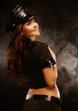 Sexy mooie politievrouw royalty-vrije stock afbeeldingen
