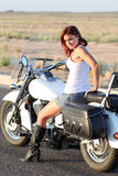 Sexy Motorcycle Rider Royalty Free Stock Image