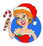 Sexy Mrs. Claus Christmas Stock Photo
