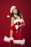 Mrs. claus. Portrait of beauty Mrs claus stock image