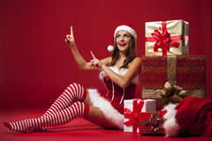 Sexy Mrs. claus Stock Images