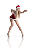 Sexy Mrs. Santa. A sexy young woman dressed in a santa outfit Stock Images