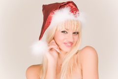 Sexy mrs. Santa Stock Photos