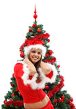 Sexy Mrs. Santa Claus Stock Images