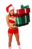 Sexy Mrs Santa Claus Stock Photo